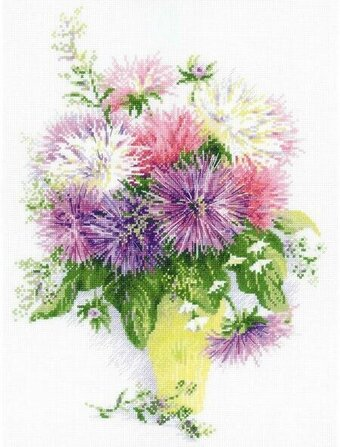 Asters Flowers - Cross Stitch Kit