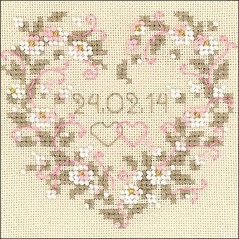 All Heart Wedding Record - Cross Stitch Kit
