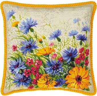 Moorish Lawn Cushion - Cross Stitch Kit