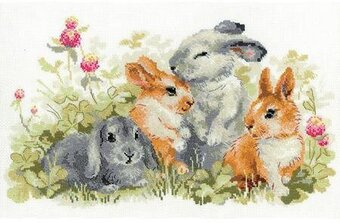 Funny Rabbits - Cross Stitch Kit