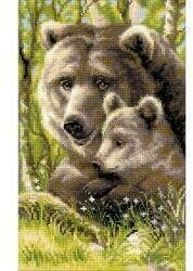 Bear With Cub - Cross Stitch Kit