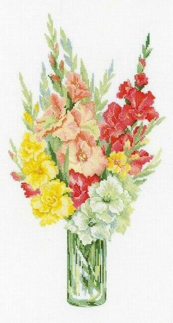 Bouquet Of Gladioli Flowers - Cross Stitch Kit
