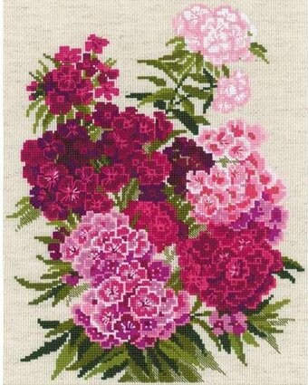 Sweet William Flowers - Cross Stitch Kit