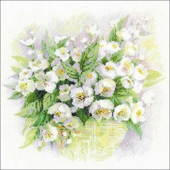 Watercolour Jasmine - Cross Stitch Kit