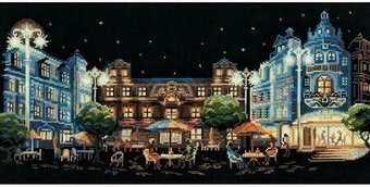 Evening Cafe - Cross Stitch Kit