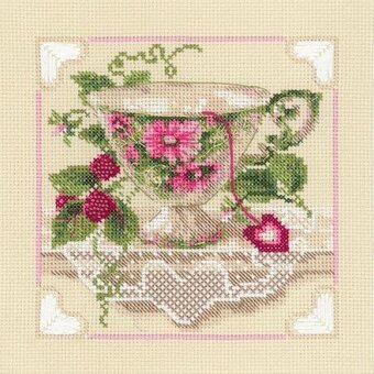 Raspberry Tea - Cross Stitch Kit
