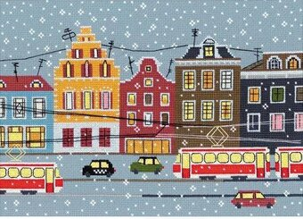 Tram Route - Cross Stitch Kit