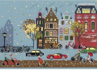 Cycle Lane - Cross Stitch Kit