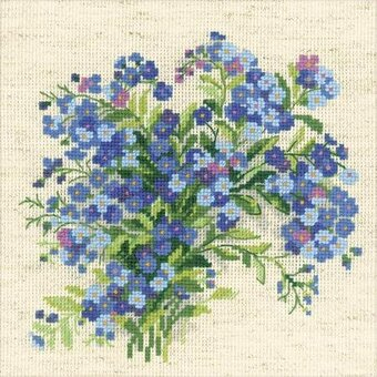 Forget Me Nots - Cross Stitch Kit