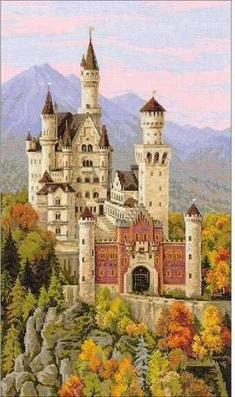 Neuschwanstein Castle Germany - Cross Stitch Kit