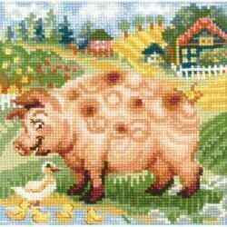 The Farm Piglet - Cross Stitch Kit