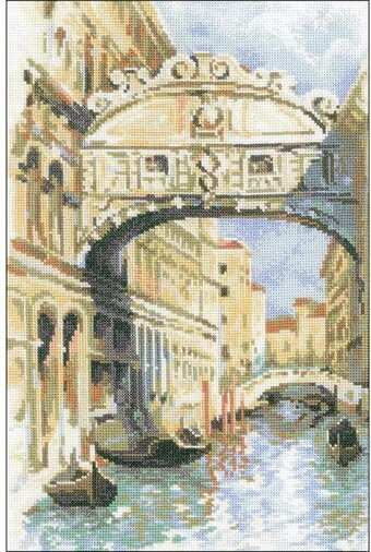 Venice Bridge Of Sighs - Cross Stitch Kit