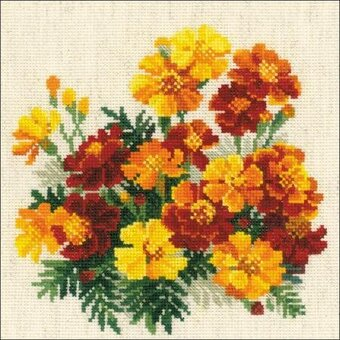 Marigolds - Flowers Cross Stitch Kit
