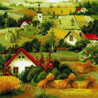 Serbian Landscape - Cross Stitch Kit