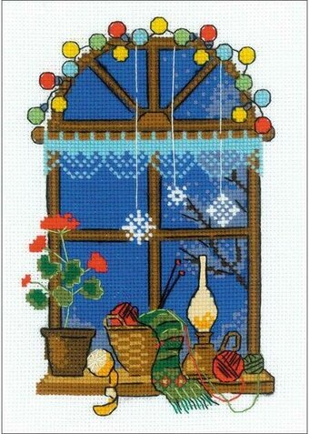 Winter Window - Christmas Cross Stitch Kit