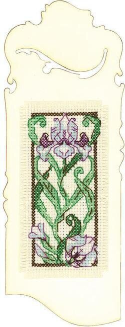 Blooming Iris Bookmark - Cross Stitch Kit