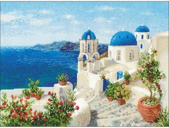 Santorini - Cross Stitch Kit