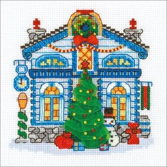 Ice Cabin - Christmas Cross Stitch Kit