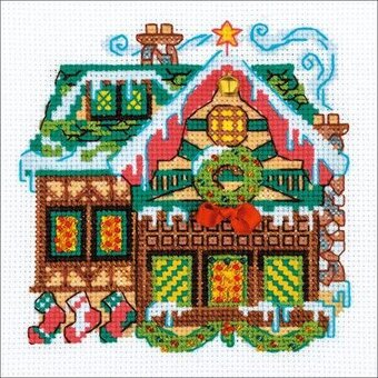 Cabin With A Bell - Christmas Cross Stitch Kit