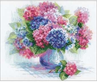 Hydrangea Flowers - Cross Stitch Kit