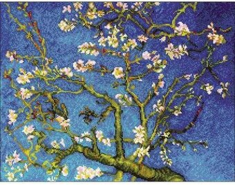 Almond Blossom Painting - Cross Stitch Kit