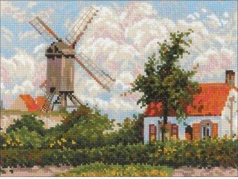Windmill at Knokke - Cross Stitch Kit