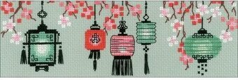 Lanterns - Cross Stitch Kit