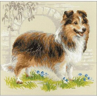 Sheltie Dog - Cross Stitch Kit