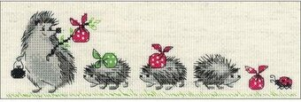 Hedgehogs - Cross Stitch Kit