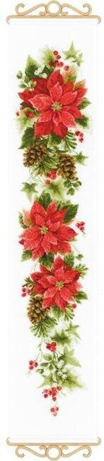 Poinsettia - Christmas Cross Stitch Kit