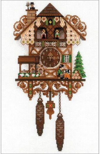 Cuckoo Clock - Cross Stitch Kit