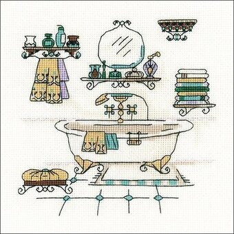 Bathroom Interior - Cross Stitch Kit