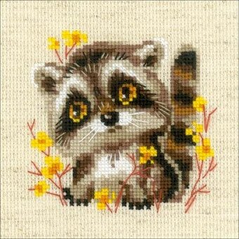Little Raccoon - Cross Stitch Kit