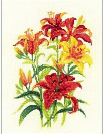 Tiger Lilies - Cross Stitch Kit