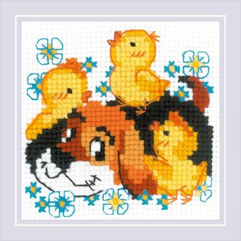 """RIOLIS Counted Cross Stitch Kit 9.75/""""X13/""""-Rococo Stroll 18 Count"""