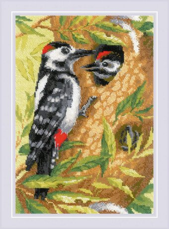 Woodpecker - Cross Stitch Kit