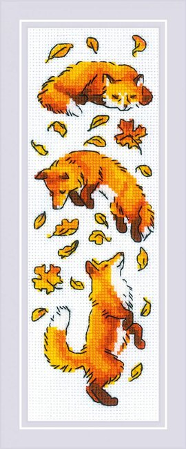 Foxes in the Leaves - Cross Stitch Kit