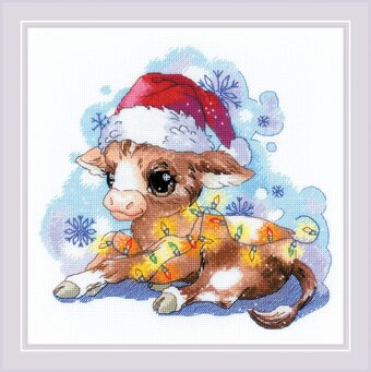 New Year's Calf - Christmas Cross Stitch Kit
