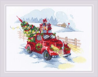To the Holidays - Christmas Cross Stitch Kit