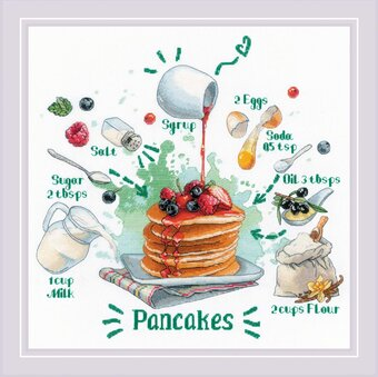 Recipe for Pancakes - Cross Stitch Kit