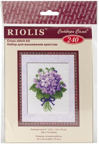 Violets - Cross Stitch Kit
