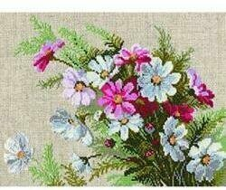 Cosmos Flowers - Cross Stitch Kit