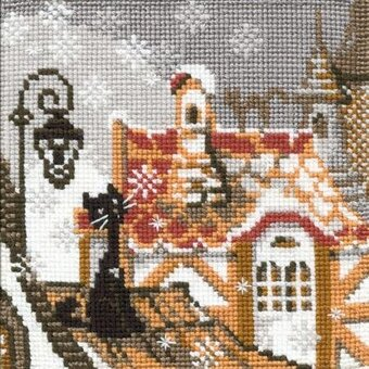City and Cats Winter - Cross Stitch Kit