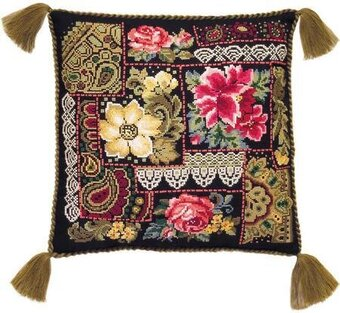 Flowers Arrangement Cushion - Cross Stitch Kit