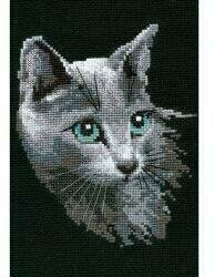 Russian Blue Cat - Cross Stitch Kit