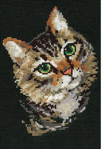 Grey Cat - Cross Stitch Kit