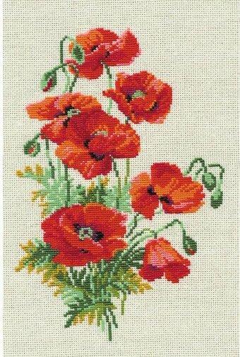 Riolis Wild Poppies Flowers Cross Stitch Kit 123stitch