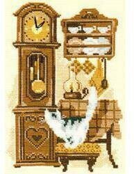 Cat With Clock - Cross Stitch Kit
