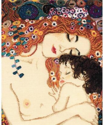 Motherly Love - G. Klimt's Painting - Cross Stitch Kit