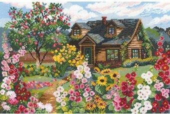 Flowering Garden - Cross Stitch Kit